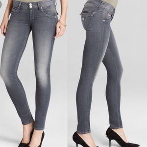 Hudson Gray Collin Flap Skinny Jeans